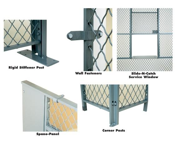 ACCESSORIES FOR WOVEN WIRE PARTITIONS