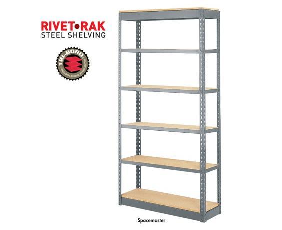 RIVET-RAK™ STEEL SHELVING - SPACEMASTER
