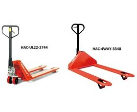 LOW-PROFILE PALLET TRUCKS